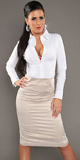 NEW SEXY PENCIL SKIRT BUTTONS HIGH WAISTED 6 8 10 12 14 - WORK/OFFICE/PARTY/CLUB