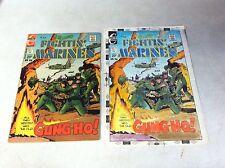 Fightin Marines #114 original hand colored cover art, 1970's, War, Gung Ho!
