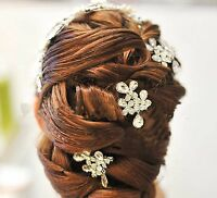 Wedding Crystal Hair Piece Rhinestone Headpiece Hair Clip Accessories