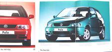 VW Volkswagen Polo Hatchback Mk 4 L CL GL 16v 1996-97 Original UK Sales Brochure