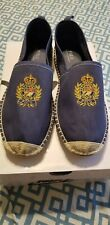 Mens POLO-RALPH LAUREN Crested Chambray Espadrille Loafers/ Shoes (12) BARRON