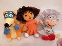 Dora The Explora Teddy Bundle. Dora, boots, swiper and lots of clothes hats etc