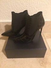 New Ralph Lauren Purple Label Tallen Black Crocodile Boots Size 9 (39) $12000