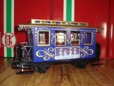 LGB 72305 BLUE & GOLD CHRISTMAS TRAIN PASSENGER CAR! BRAND NEW NO BOX!