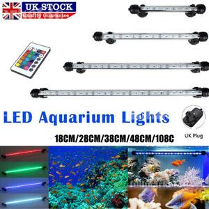 18-108cm Aquarium Fish Tank Air Light RGB SMD LED Lamp Lighting+Remote UK