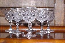CRISTALLO taglio brillante 6 piccoli bicchieri da vino St Louis Diamond STELI Antico ABP