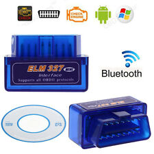Super Mini OBD2 OBDII V2.1 Android Bluetooth Adapter Auto Scanner Torque Blue
