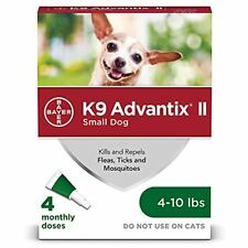New listing Ii Flea and Tick Prevention for Small Dogs, 4-10 Pounds 4-Pack Small Dog Only