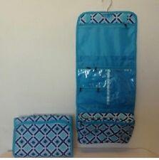 Cosmetic  Luggage NAVY TURQ. Hanging Makeup  Bag Roll Up Travel Organizer Case