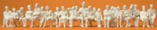 Preiser 65602 Seated Passengers 24 Unpainted Figures O Gauge