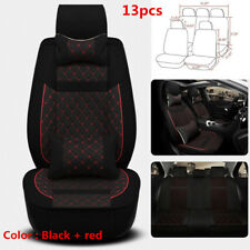 Deluxe Car Seat Cover 5Seats Full Front+Rear Seat Protector Cushion Mix-material