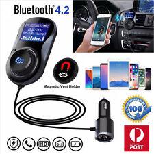 Transmisor de FM Bluetooth Llamada Manos Libres MP3 Audio Cargador USB Automóvil