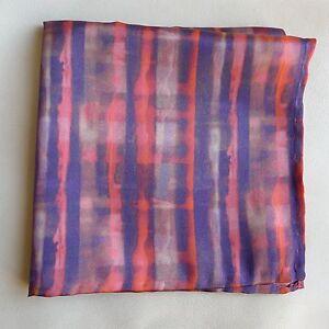 Silk pocket square Solseture Liberty satin fabric
