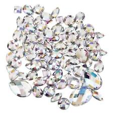 100pcs Mixed Rhinestone Crystal Sewing Buttons Beads Crafts Scrapbooking
