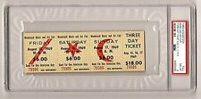 Woodstock 1969 concert 3 Day $18 advance sale ticket Psa slabbed #79986 Nm-Mt 8