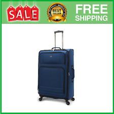 28' Checked Elliptic 4-wheel Spinner Luggage, Blue