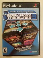 Midway Arcade Treasures 3 Sony PlayStation 2 PS2 Complete Manual LN FREE S/H