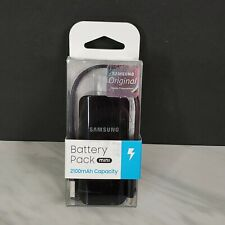 NEW Authentic Samsung Black Mini Battery Pack 2100 mAh Portable &Compact Charger