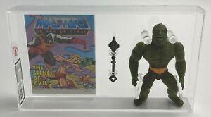 MOTU Vintage Loose Moss Man with Comic Series 4 Malaysia 1985 UKG 85%