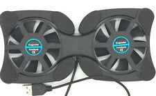 Rotatable Black USB Fan Cooler 2 Fans Cooling Pad for Laptop Notebook PC