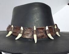 Crocodile Leather 6 teeth hat band for Kakadu Stetson cowboy cowgirl Australian