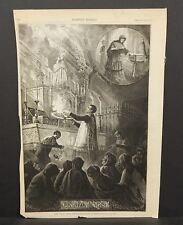 Harper's Weekly 1Pg The Virgin Mary's Letter Box Romish Superstitions 1873 B8#09
