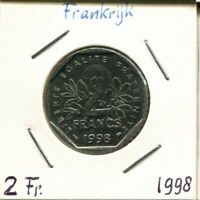 2 FRANCS 1998 FRANCE Semeuse French Coin #AM362GW