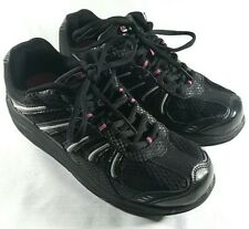 ExerSteps Women's Shoes Black Pink Silver Size 7 Exercise Fitness Athletics Vgc
