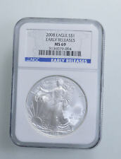 MS69 2008 American Silver Eagle - Early Releases - Graded NGC *185