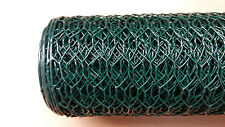 Galvanised PVC Coated Hexagonal Mesh Wire Ideal for Garden Fencing 5mx1mx13mm
