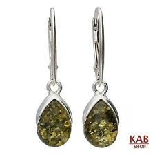 BALTIC AMBER GEMSTONE STERLING SILVER 925 BEAUTY EARRINGS. KAB-232 e.L