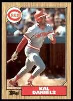 1987 Topps Tiffany Set Break Kal Daniels Rookie Cincinnati Reds #466