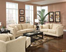 Park Place Velvet Upholstered 3 Piece Living Room Furniture Set Sofa Love Chair