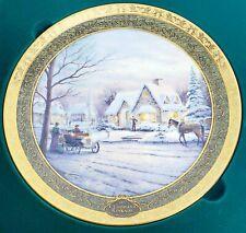 Thomas Kinkade 2002 Memories Of Christmas 4th Issue Plate Nos Coa Bradford