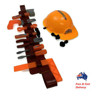 11PC Kids Builder Construction Tools Set  Hardhat Role play Hammer Kits Tool