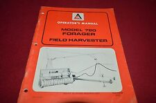 Allis Chalmers 720 Forage Harvester Operator's Manual DCPA6 ver5