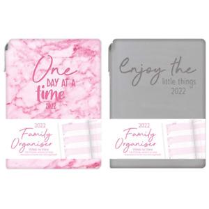 2022 Diary A6 Family Organiser Diary & Pen Flexi Cover Week To View Xmas Gift