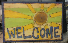 "Painted Peace "" Welcome ""  Wall Plaque - Design by Stephanie Burgess"