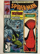 "SPIDER-MAN #11 (Jun 1991, Marvel) ""PERCEPTIONS"" w/ WOLVERINE! TODD MCFARLANE CVR"