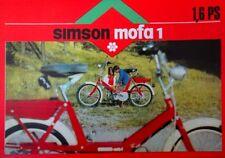 1970 DDR Prospekt SIMSON Mofa SL 1 mit 1,6 PS IFA Kombinat Suhl reklame =  Farbe