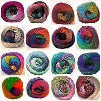 Cygnet Boho Spirit Premium Acrylic DK Yarn 100g Balls 16 Shades Multicolour Yarn