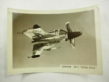"Convair XFY-1 ""Pogo Stick"" 1954 Aircraft B&W Photo 3.5 x 5"""
