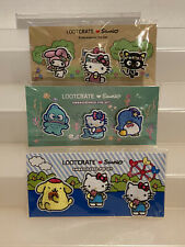 Exclusive Lootcrate SANRIO EMBROIDERED PIN SETS Set of 3! Hello Kitty loot crate