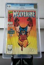WOLVERINE #27 (1990) CGC 9.8 JIM LEE  X-MEN ICONIC Cover!