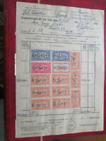 Germany Income Tax revenues stamps original 1923 document lovely