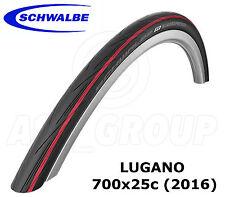 Schwalbe Lugano 700x25C (25-622) RACING / Strada Bicicletta Pneumatico-ROSSO (versione 2016)