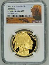 2015 W $50 Proof Gold Buffalo G$50 1oz NGC PF70 Ultra Cameo