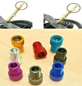 2 or 4 Presta To Schrader Valve Adapter Converter Pump Tyre Bike Cycle Bicycle