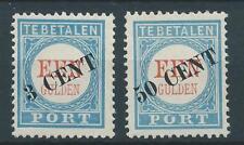 1906TG  Nederland Portzegel  P27-28 TYPE II, postfris LUXE zegels..