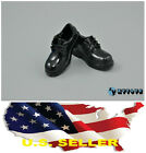1/6 shoes girl cute Glossy Black Loafer boots for 12\